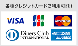 各種クレジットカードご利用可能!